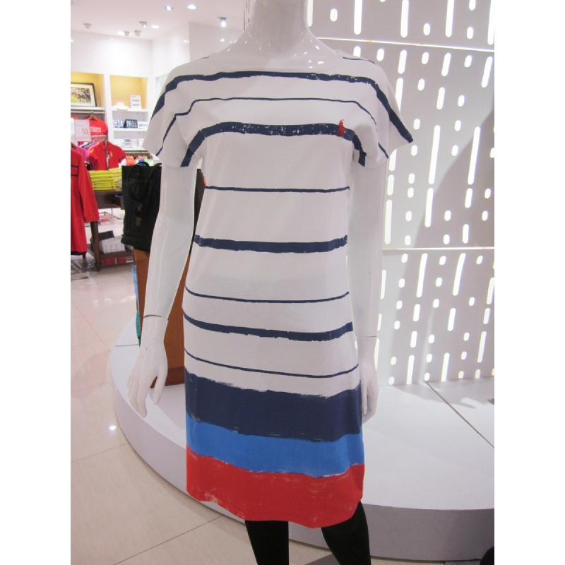 Polo Dress Stripe Multi