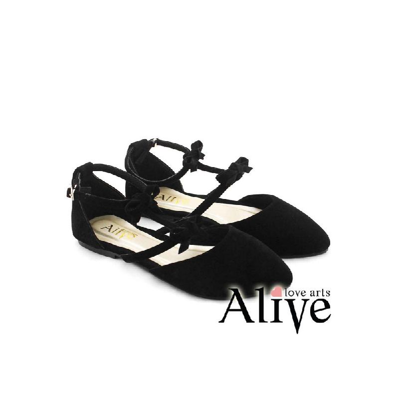 AliveLoveArts Thumbelina Flat Shoes Black