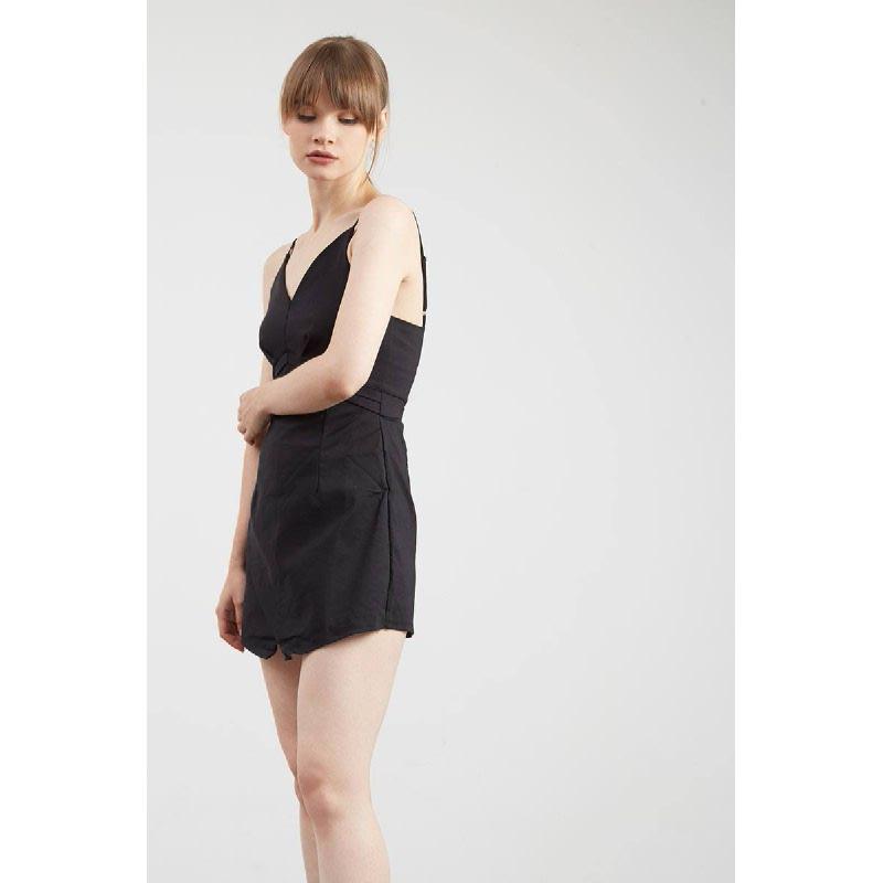 Gwen Kelbra Playsuit in Black