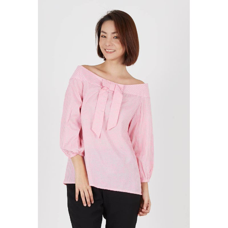 Rosa Back Knot Top Pink