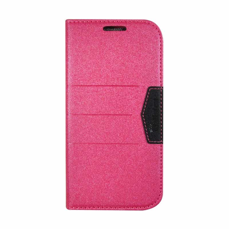 Beautiful Bright Leather Case For fren Andromax V Rose