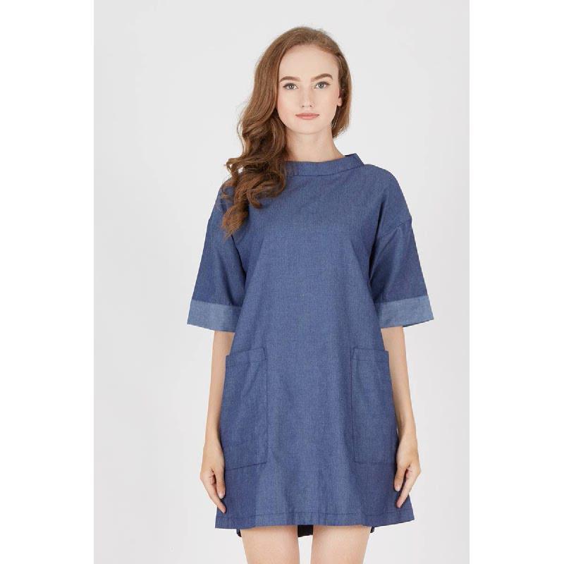 Jane Navy Plaid Dress