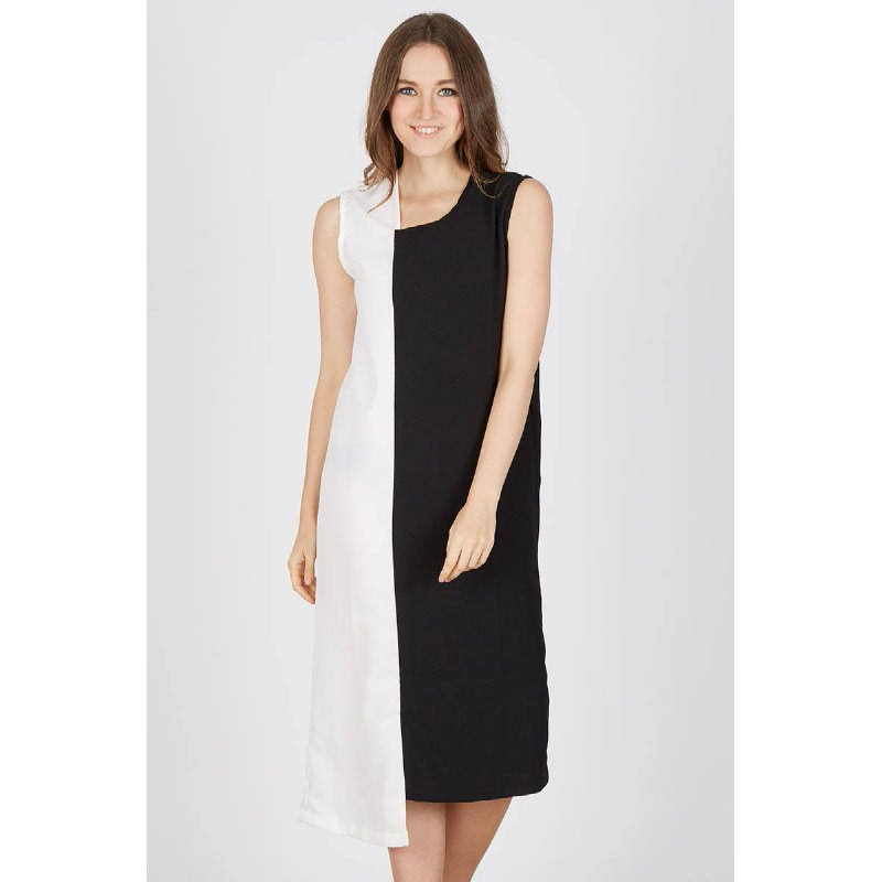Gwenna Black Midi Dress