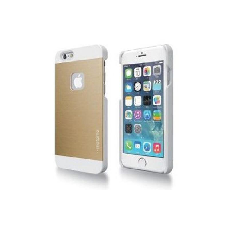 Motomo INO METAL AL1 iPhone6.6S Plus CASE - Gold Putih