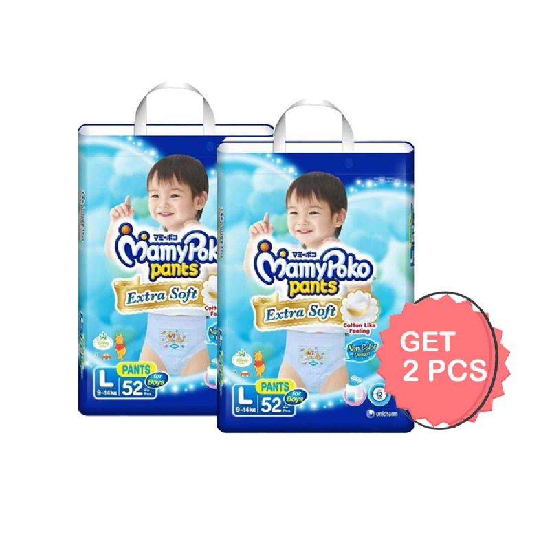 MamyPoko Popok Celana Extra Soft Boy L 52S (Get 2)