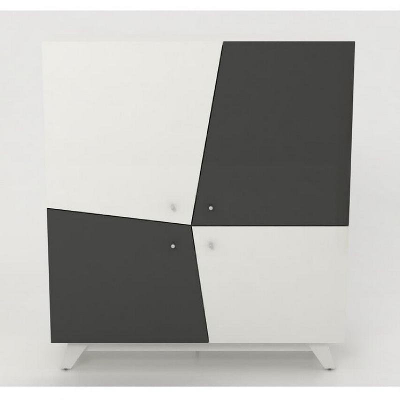Anya Living Lemari Laci Vector Highboard - White Glossy
