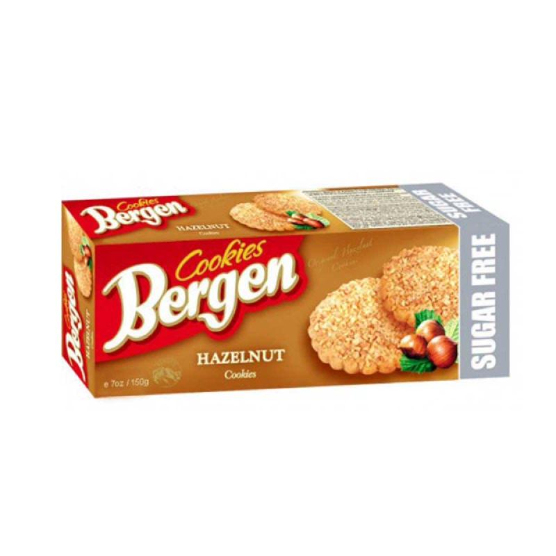 Bergen Sugar-Free Hazelnut Cookies 150g