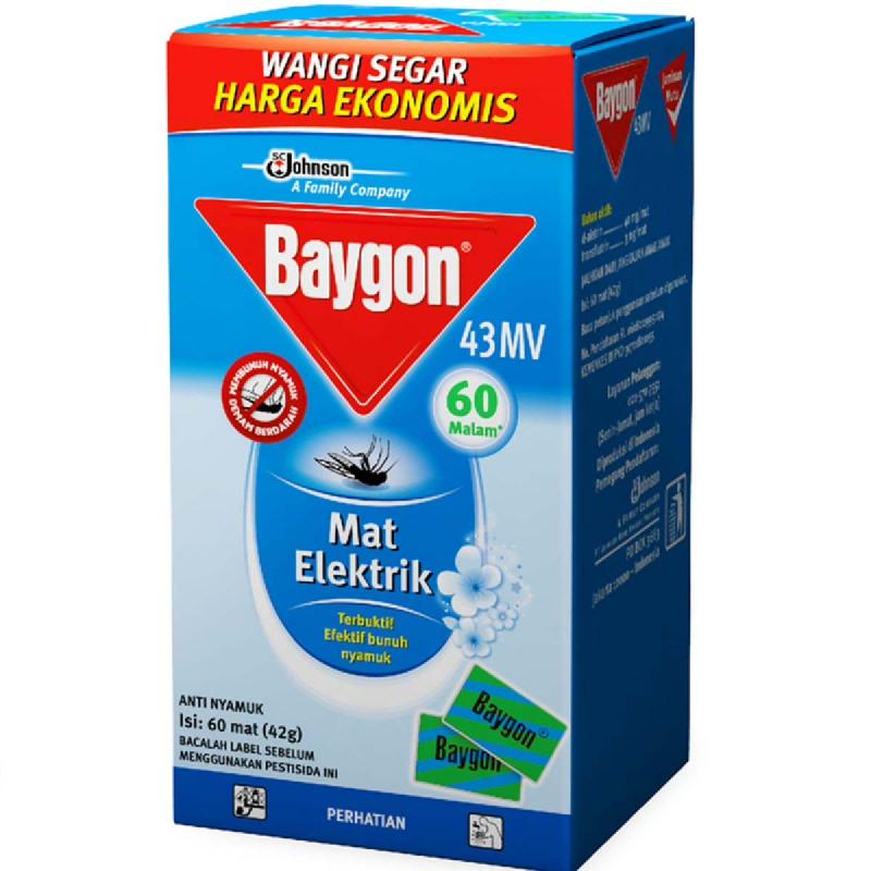 Baygon Mat Reguler 60 Pcs