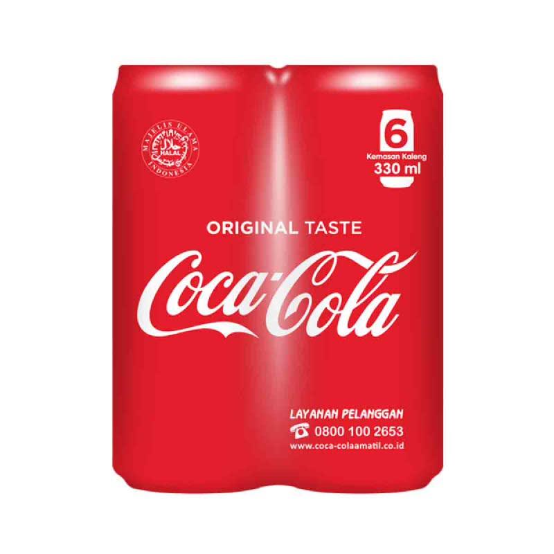 Coca Cola Kaleng Banded 6 Pcs
