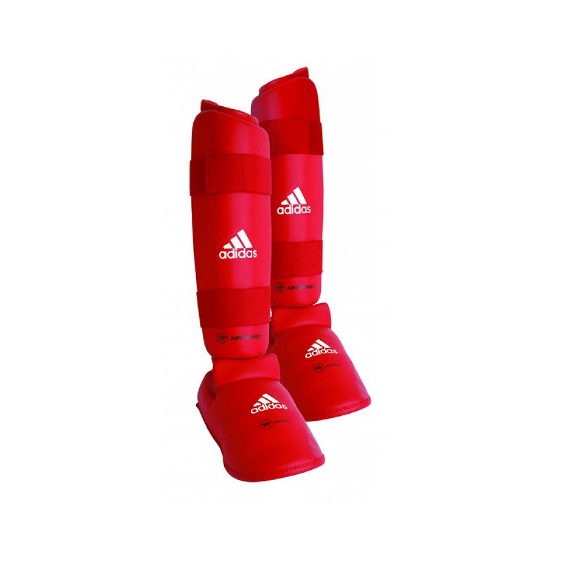 Adidas Combat Wkf Shin Instep Red