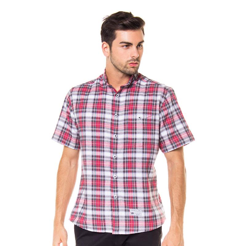 17Seven HappyReds Men Shortshirt Multicolour