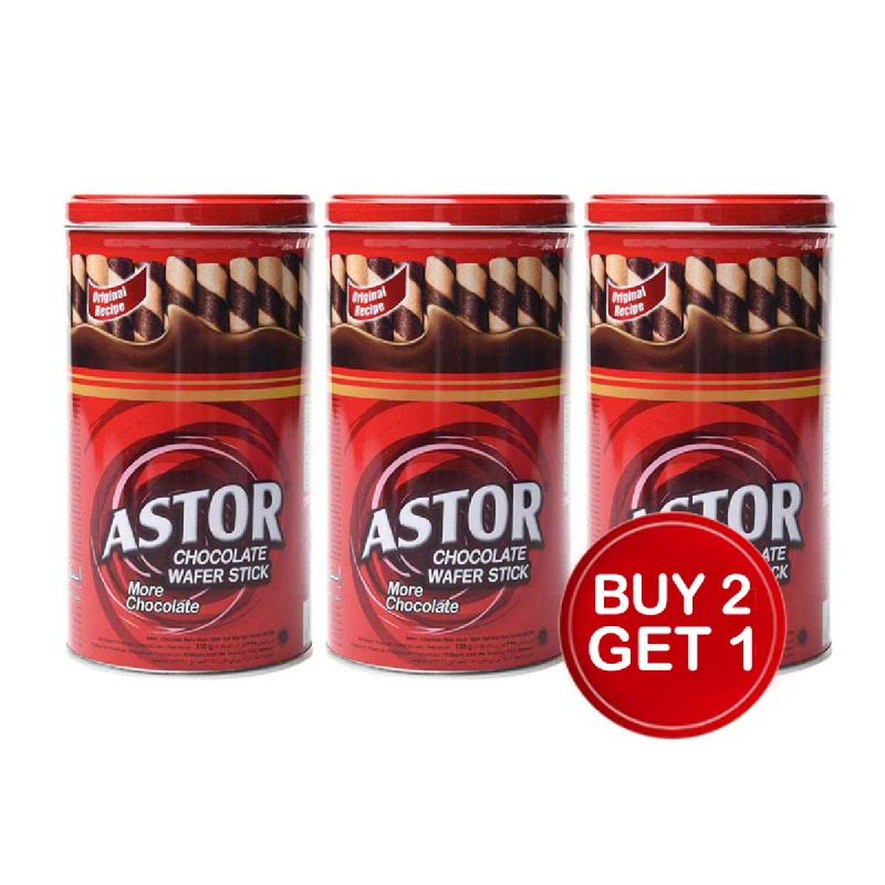 Astor Double Chocolate 330 Gr (Buy 2 Get 1)