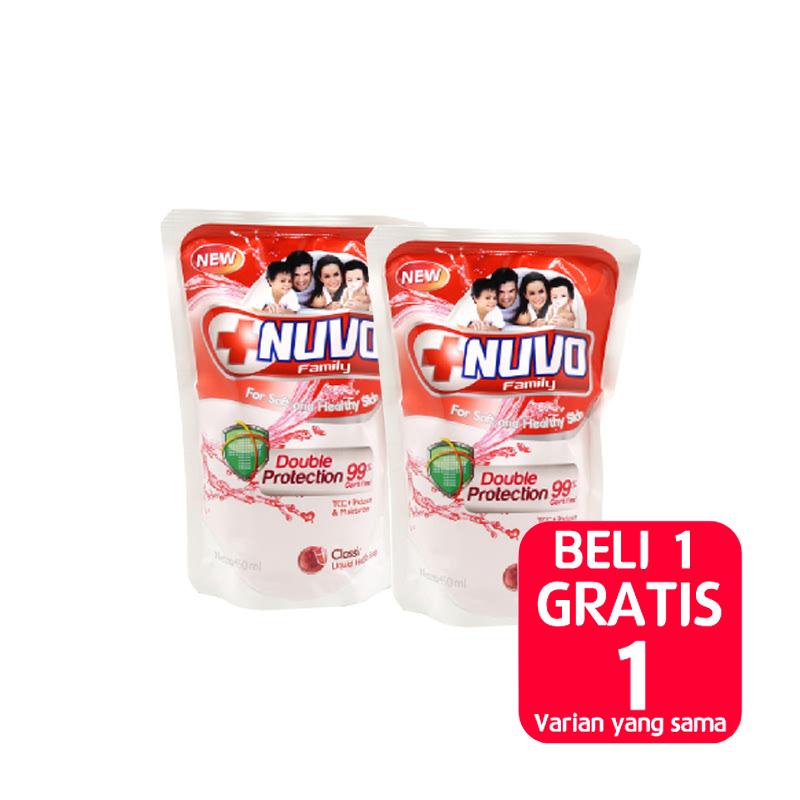 NUVO BODY FOAM CLASSIC MERAH POUCH 450ML (Buy 1 Get 1)