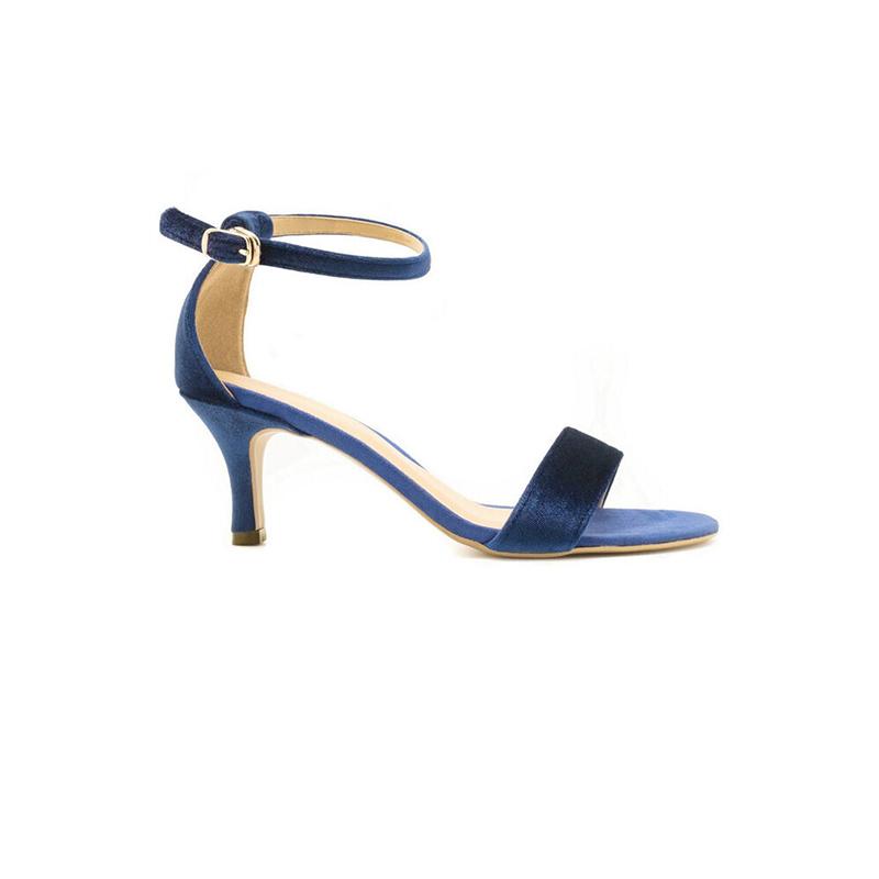 Apple Green Henrietta Strap Heels Blue