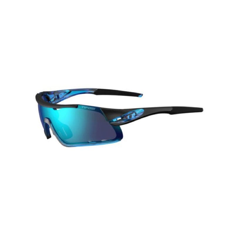 Tifosi Davos Crystal Blue Sunglasses 3 Lenses Clarion Blue-Ac Red-Clear