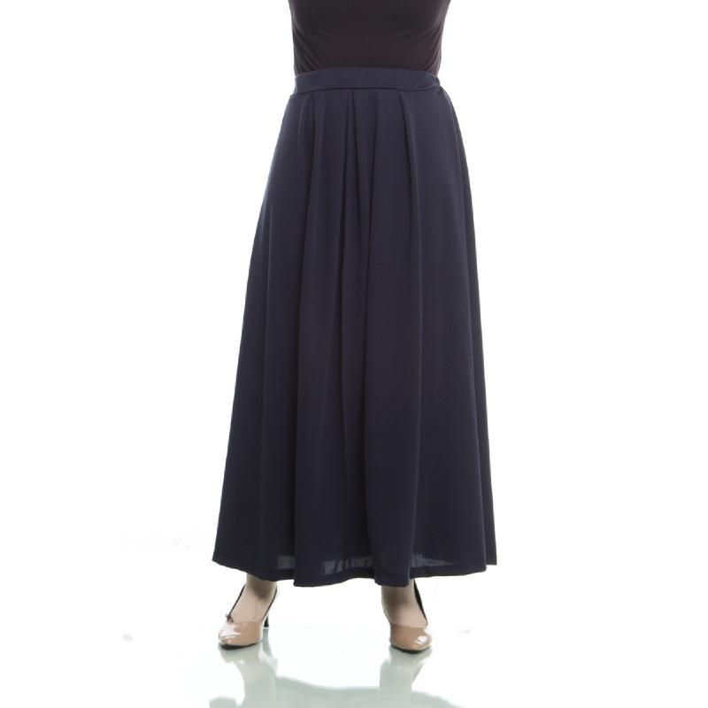 Mybamus Pleated Skirt Navy M12474 R7S1