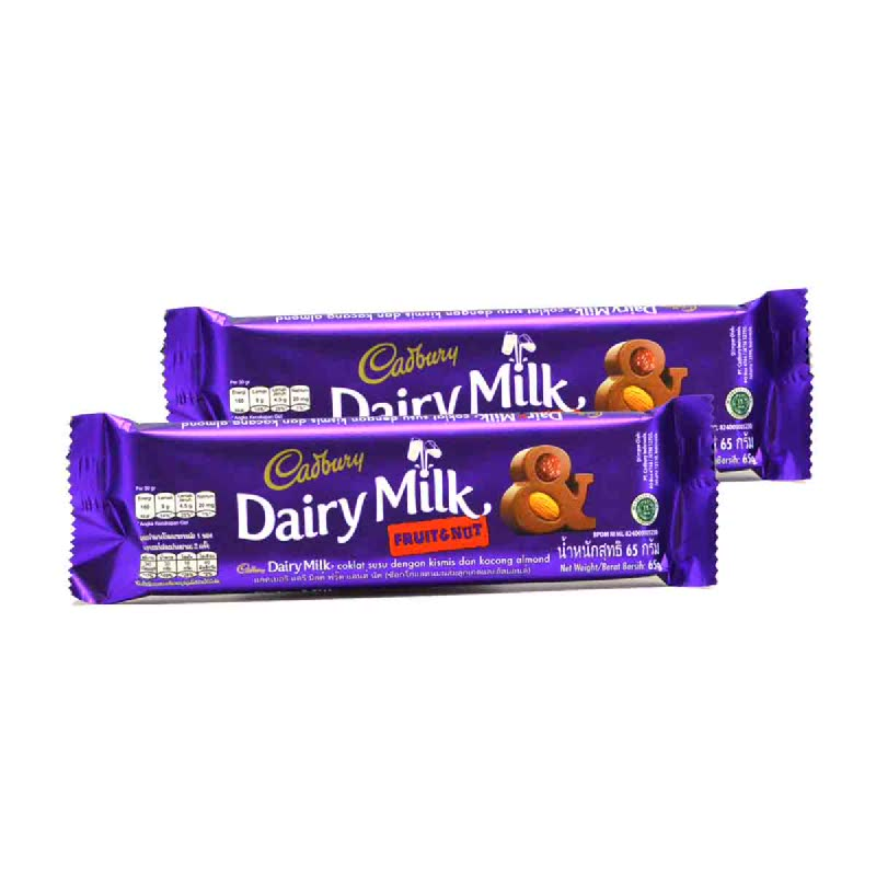Cadbury Fruits & Nut 65G (Buy 1 Get 1)
