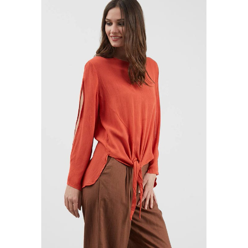 Gwen Forst Top in Teracota