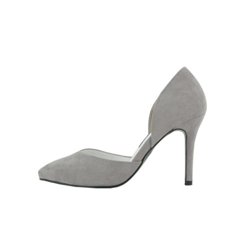 SAPPUN Oh, Chloe Suede Stiletto Heel (9cm) - Gray