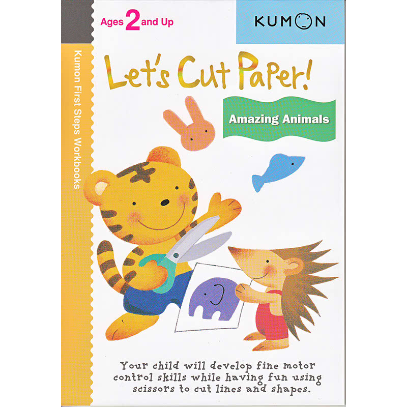 Kumon Let's Cut Paper! Amazing Animals