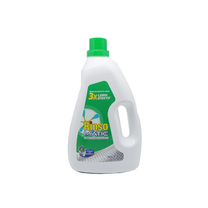 Rinso Matic Top Load Liquid Deterjen Cair 2.7L Botol