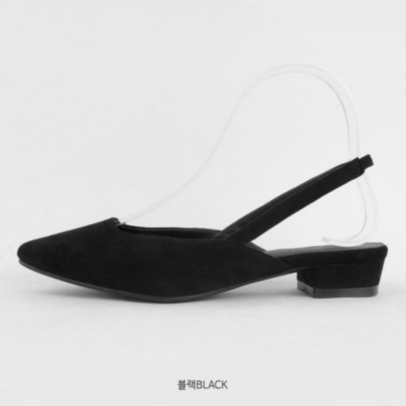 Raville Suede Slingback (3cm) Black