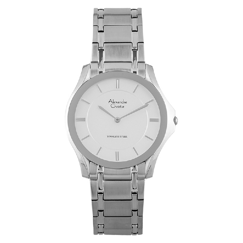 Alexandre Christie AC 8605 MH BSSSL Silver Dial Stainless Steel Strap