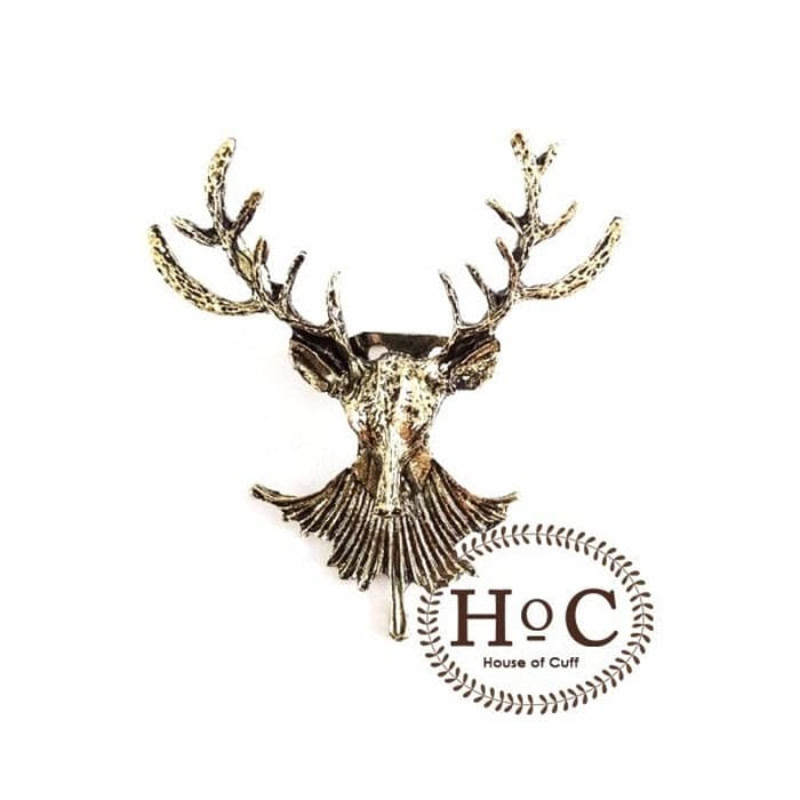 House Of Cuff Lapel Pin Bros Jas Wedding Best Man Deer Bronze Brooch
