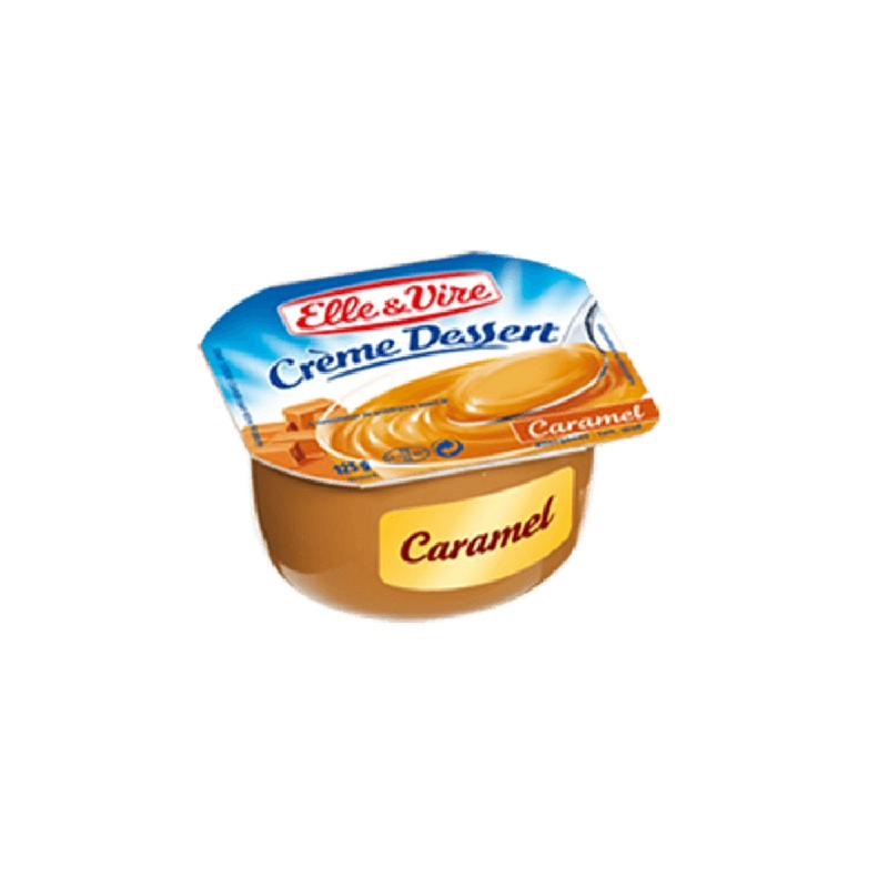 French Dessert Caramel Dairy Pudding