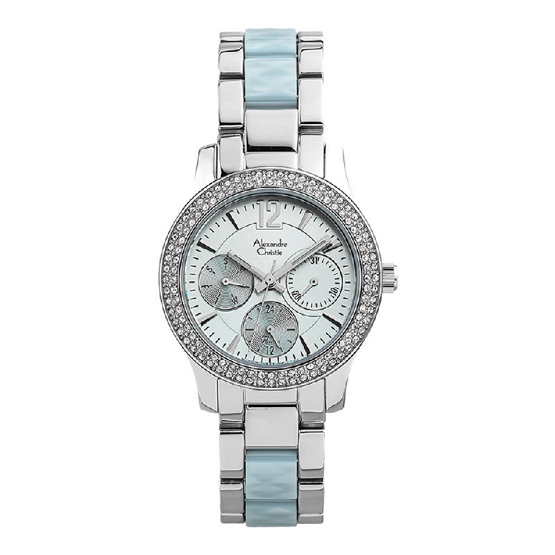 Alexandre Christie Passion AC 2463 BF BSSLB Ladies Light Blue DIal Dual Tone Stainless with Acetate