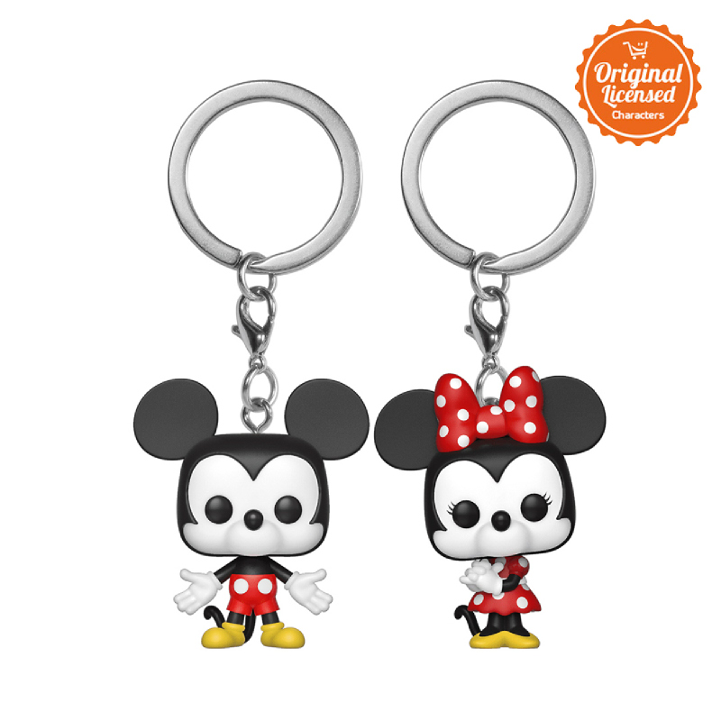 Funko Pop Keychain Disney Mickey & Minnie (2pcs)