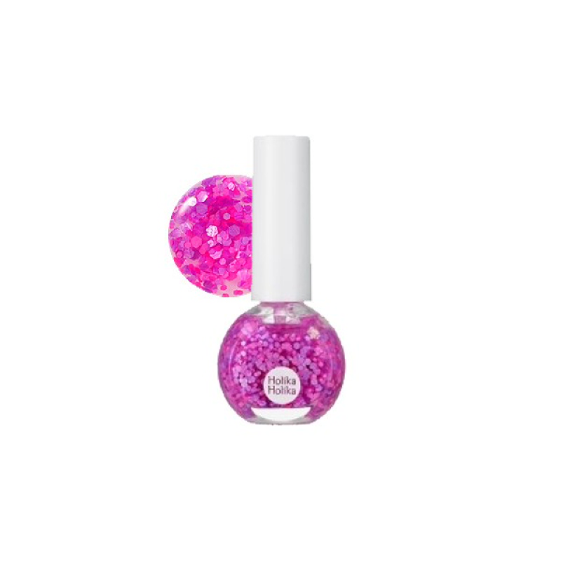 Aqua Petit Jelly Neon Beam Glitter Nails 04 Mystic Purple
