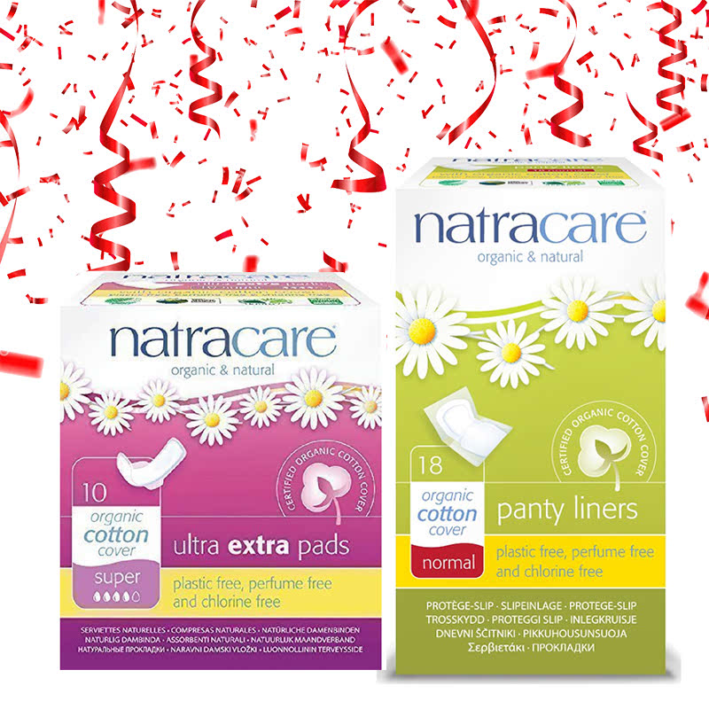 Natracare Extra Super Pad Wings + Natracare Normal Wrapped Panty Liner 18