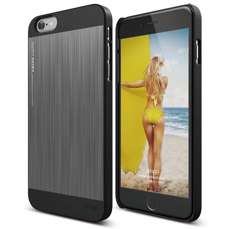 Elago Outfit Matrix Case for iPhone 6S Plus - Black + Dark Gray