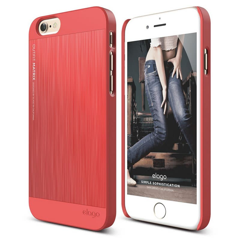 Elago Outfit Matrix Case for iPhone 6, 6S - Italian Rose + Italian Rose