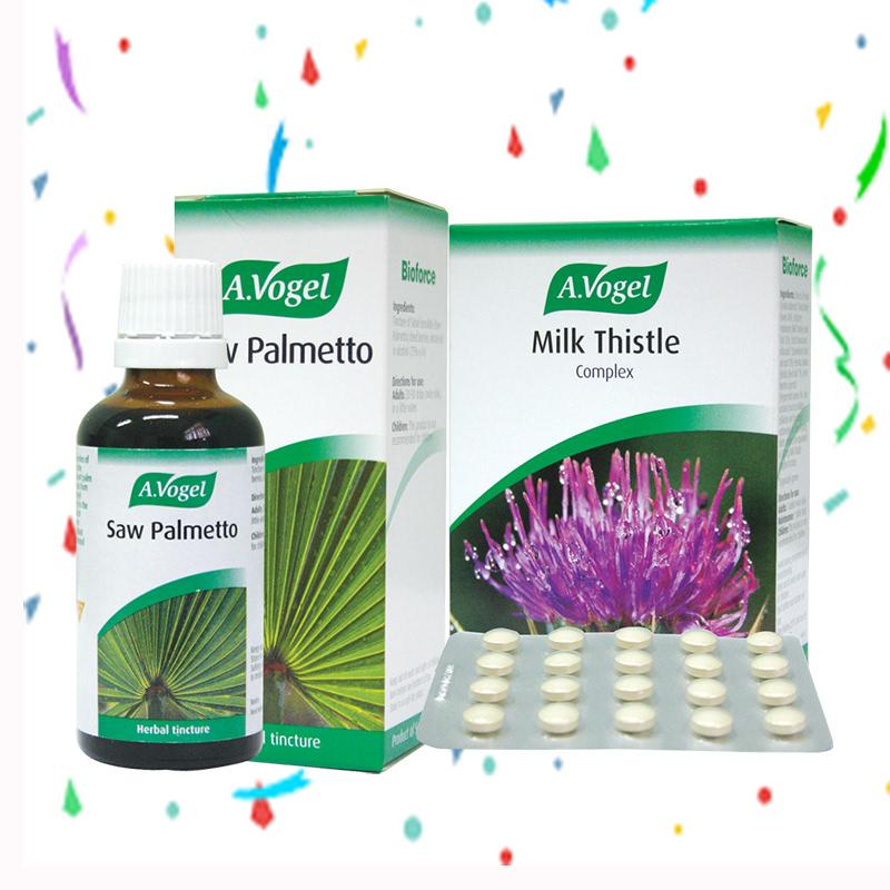 A.Vogel Saw Palmetto 50 ml + A.Vogel Milk Thistle Complex 60 Tablet