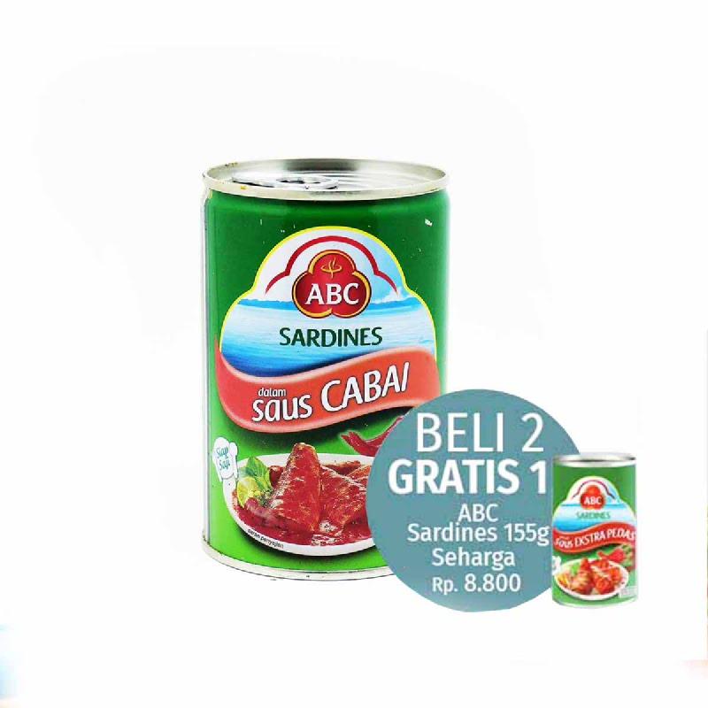 Abc Sardine Chilli 425 Gram (Beli 2 Sardine 425Get 1 Sardine 155G)