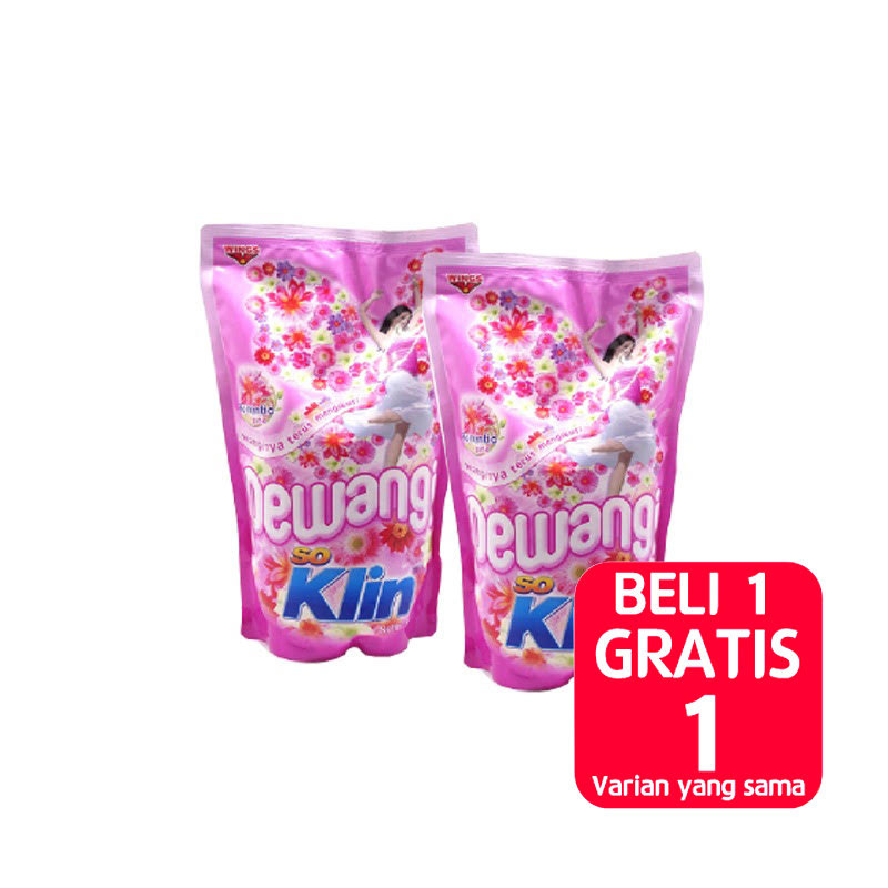 SO KLIN PEWANGI MERAH POUCH 900ML (Buy 1 Get 1)
