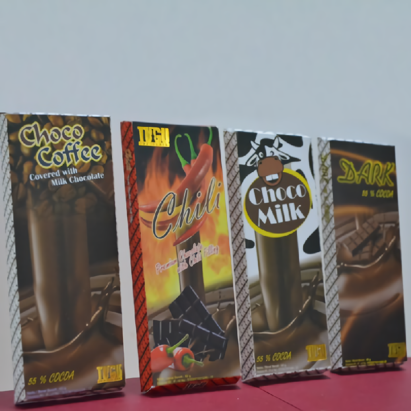 Chocolate Tugu paket 60gr  (Isi 4 pcs Bar Dark,Chilli,Coffee,Milk)