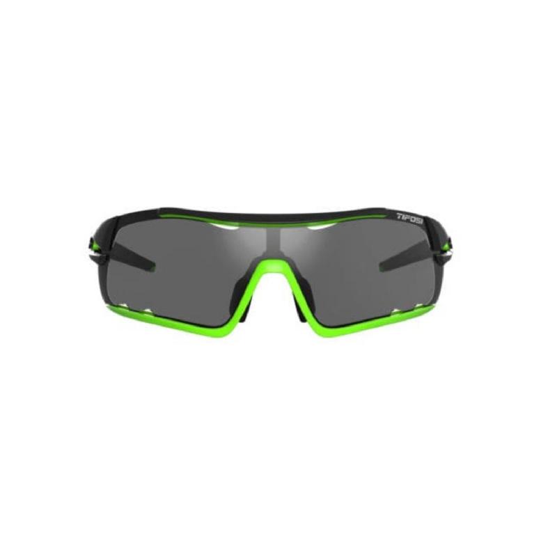 Tifosi Davos Race Neon Sunglasses 3 Lenses Smoke-Ac Red-Clear