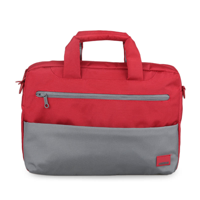 American Tourister Brixton Laptop Briefcase M 95S080003 Red-Grey