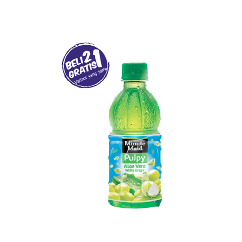 Minute Maid Aloe Vera White Grape Pet 350 Ml (Buy 2 Get 1)