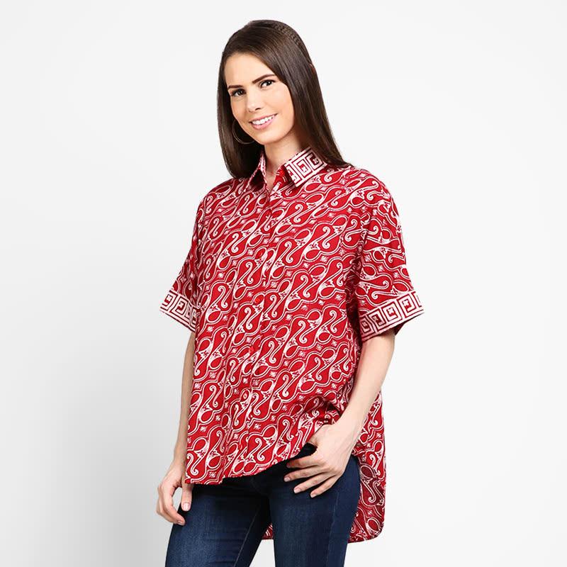 Astari Batik Kemeja Red Parang