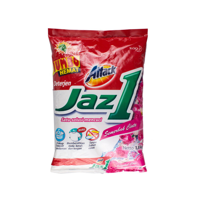 Attack Jaz 1 Detergen Semerbak Cinta 1.8 Kg