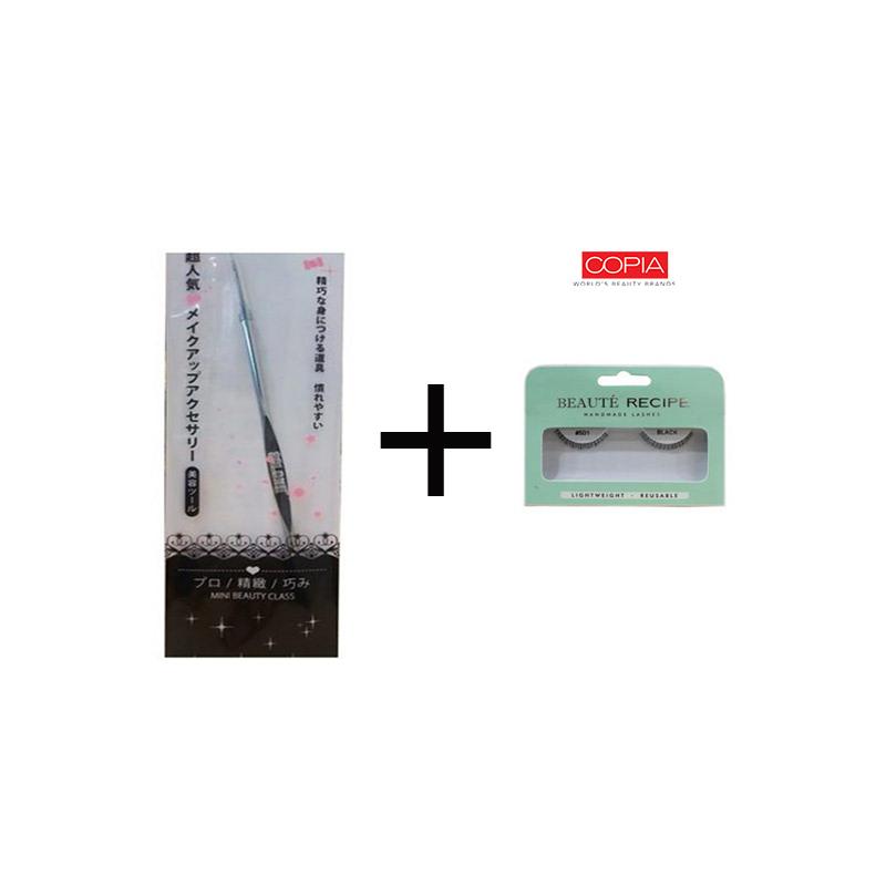 Beaute Recipe Acne Stick 1073-4 + Beauty Tools Eyelash 501 Black
