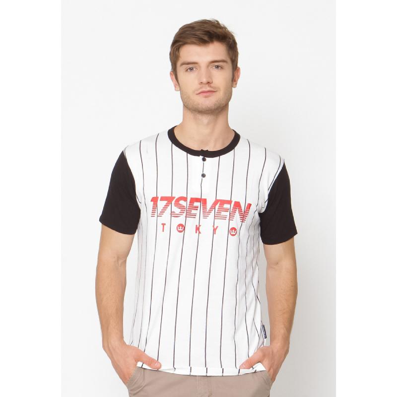 17seven Original Belatrix Men Tshirt White Striped