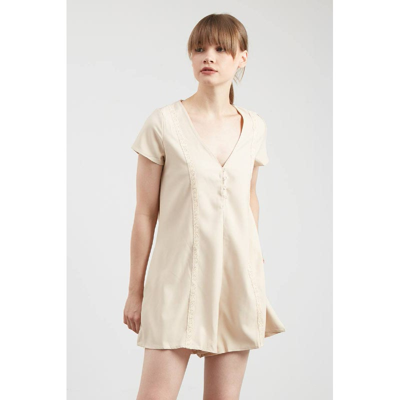 Gwen Potsdam Dress in Beige