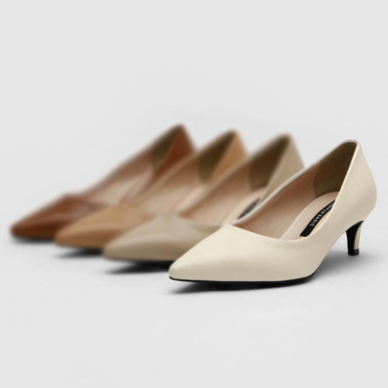 SAPPUN Kamelri Basic Stilettos (5cm) - Ivory