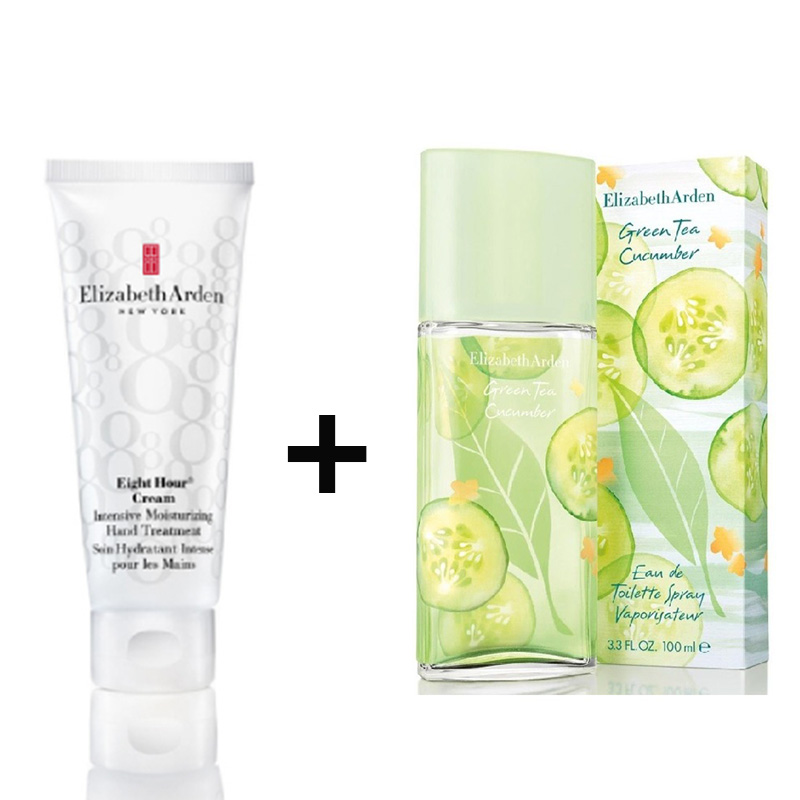 Elizabeth Arden Green Tea Cucumber 100ml+Eight Hour Hand Cream