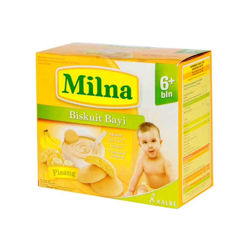 Milna Biskuit Bayi Rasa Pisang Box 130 Gr